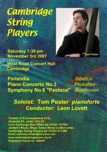 Saturday 3rd November 2007