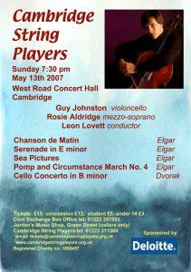 Sunday 13th May 2007